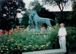Mom at Philadelphia Zoo, Outside the Lion House ©Rose De Dan 2010