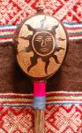 Sun Moon Chakana Peruvian Amazon Rattle, www.ReikiShamanic.com