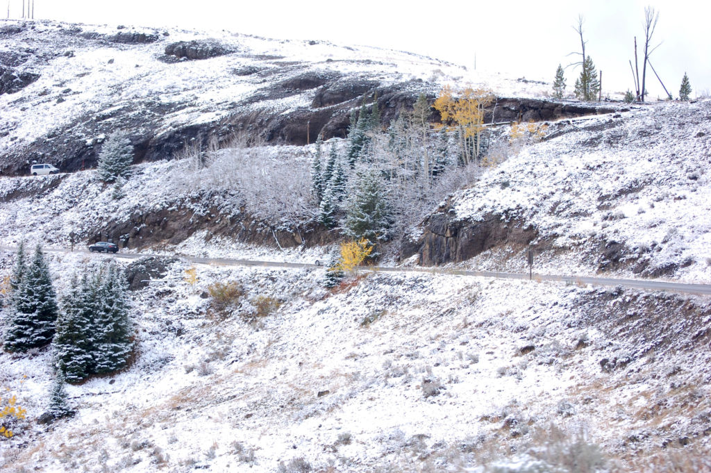 Switchback at Dunraven Pass, ©Rose De Dan www.ReikiShamanic.com