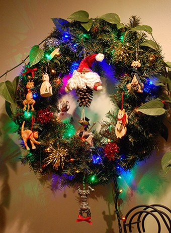 Christmas Wreath 2016, ©Rose De Dan www.ReikiShamanic.com