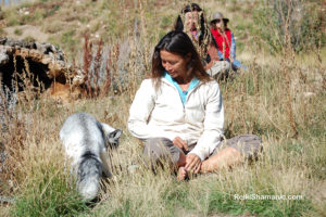 Fox Loki at Earthfire Institute during A Walk on the Wild Side, ©Rose De Dan www.ReikiShamanic.com